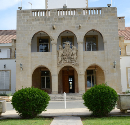 Presidential Palace with royal crest still intact